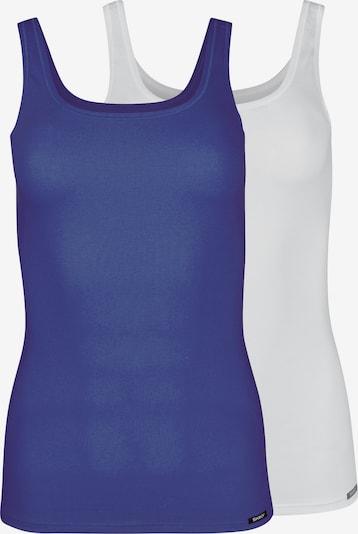 Skiny Onderhemd 'Advantage Cotton' in de kleur Blauw / Wit, Productweergave