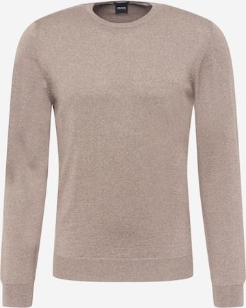 BOSS Sweter 'Botto' w kolorze brązowy