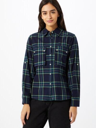 UNITED COLORS OF BENETTON Bluse in blau / grün, Modelansicht