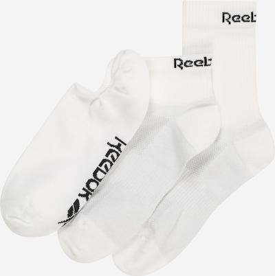 REEBOK Sportovní ponožky - černá / bílá, Produkt