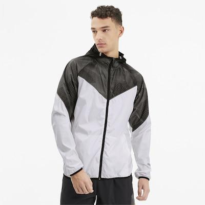 PUMA Jacke in schwarz / weiß: Frontalansicht