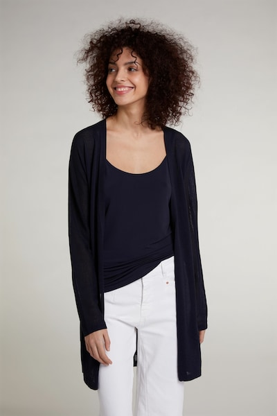 OUI Gebreide mantel in de kleur Zwart, Modelweergave