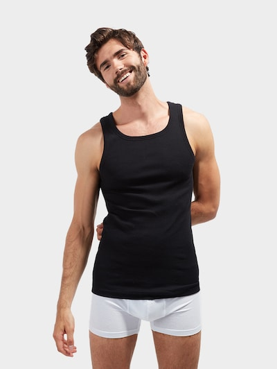 TOM TAILOR Onderhemd in de kleur Zwart, Modelweergave