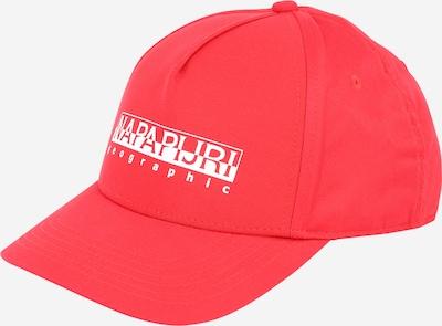NAPAPIJRI Hoed 'FRAMING 2' in de kleur Rood / Wit, Productweergave