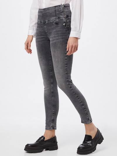 PATRIZIA PEPE Jeggings 'PANTALONI' in grey denim, View model