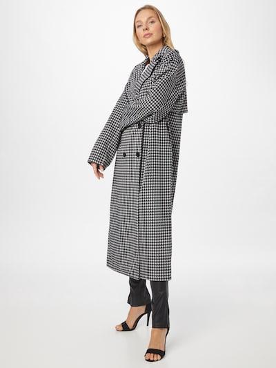 Palton de primăvară-toamnă Missguided pe negru / alb, Vizualizare model