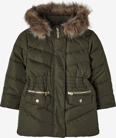 NAME IT Zimná bunda 'Maxim' - hnedá melírovaná / zlatá / olivová, Produkt