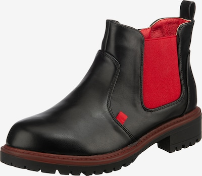 Inselhauptstadt Chelsea Boots in rot / schwarz, Produktansicht