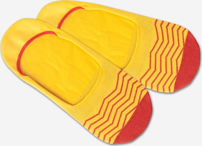 DillySocks Ankle socks 'Hidden Square Lights' in yellow / red, Item view