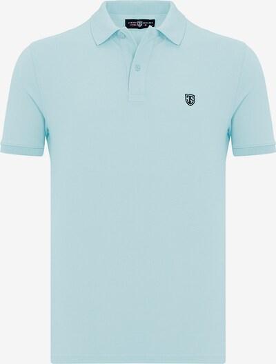 Jimmy Sanders Kurzarm Shirt mit Polokragen in hellblau, Produktansicht