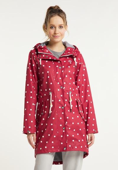 Schmuddelwedda Mantel in rot / weiß, Modelansicht