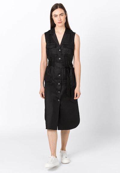 HALLHUBER Leinenkleid mit TENCEL™ in schwarz, Modelansicht