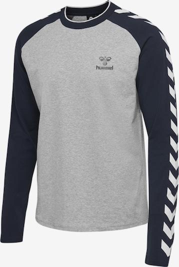 Hummel T-shirt L/S in blau / grau, Produktansicht