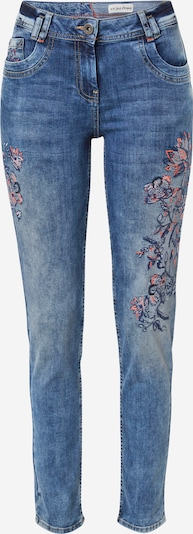 CECIL Jeans 'Scarlett' in Navy / Blue denim / Pink, Item view