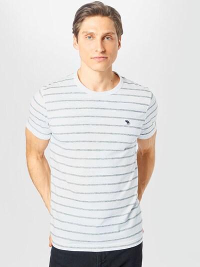 Abercrombie & Fitch Paita värissä harmaa / valkoinen: Näkymä edestä