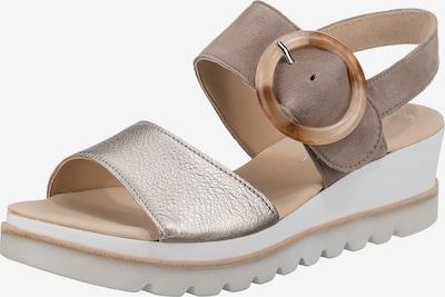 GABOR Sandale in dunkelbeige / silber, Produktansicht