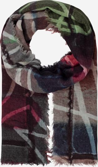 APART Schal mit Digitalprint in grau / grün / rot, Produktansicht