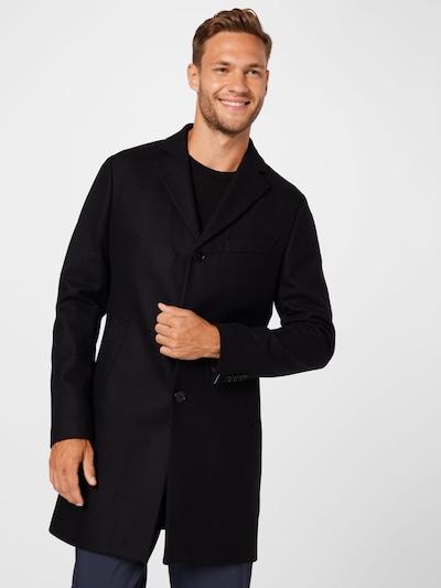 Demisezoninis paltas 'Wolger Compact Melton' iš J.Lindeberg, spalva – juoda, Modelio vaizdas