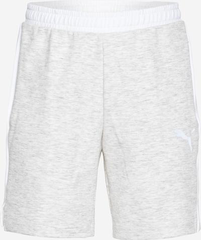 PUMA Pantalón deportivo 'EVOSTRIPE ' en gris moteado / blanco, Vista del producto