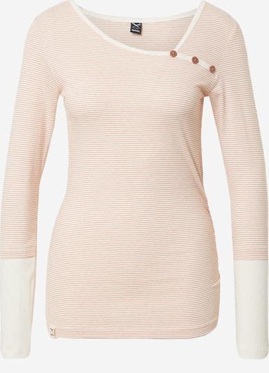 Iriedaily Shirt 'Asym' in koralle / weiß, Produktansicht
