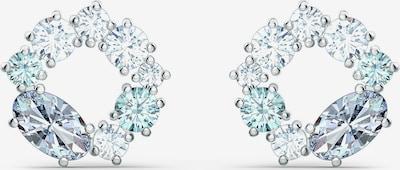 Swarovski Boucles d'oreilles 'ATTRACT' en bleu clair / argent / transparent, Vue avec produit