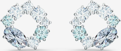 Swarovski Øreringe 'ATTRACT' i lyseblå / sølv / transparent, Produktvisning