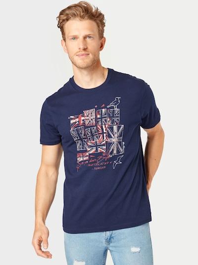 Ben Sherman T-Shirt 'BRIGHTON FLAGS' en bleu nuit / rouge / blanc: Vue de face