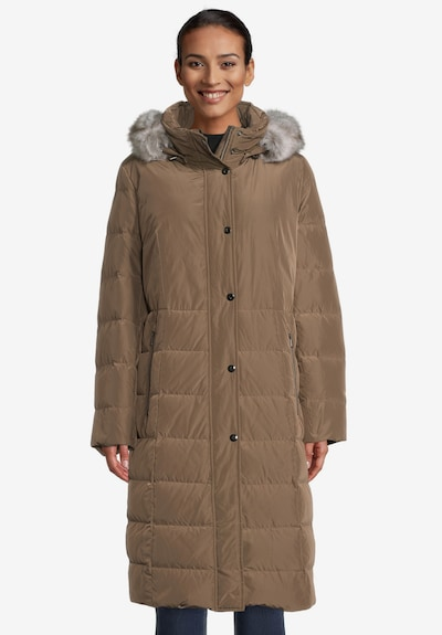 GIL BRET Wintermantel in braun / grau, Modelansicht