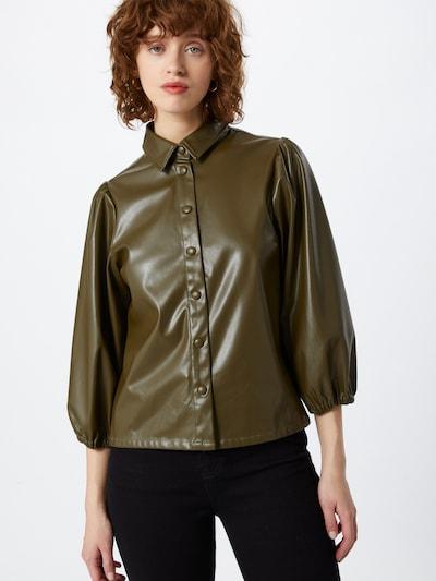 minimum Bluse in dunkelgrün, Modelansicht