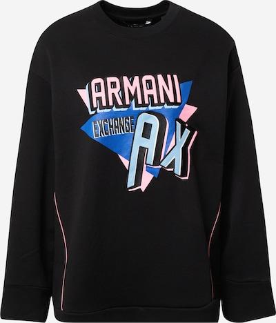 ARMANI EXCHANGE Sweatshirt in blau / pink / schwarz, Produktansicht