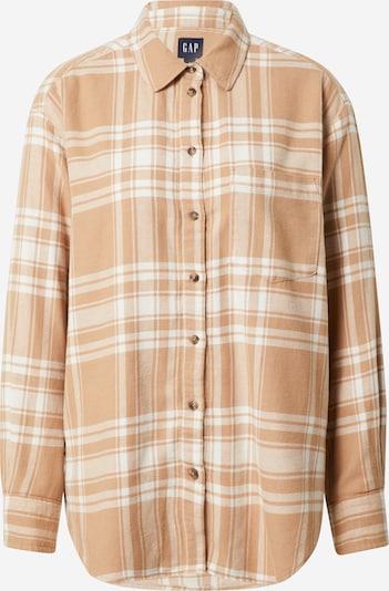 GAP Bluse in camel / naturweiß, Produktansicht