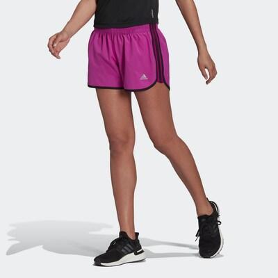 ADIDAS PERFORMANCE Sporthose 'Marathon 20' in grau / pink / schwarz, Modelansicht