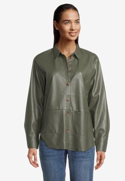 Betty & Co Overshirt mit Taschen in khaki, Modelansicht