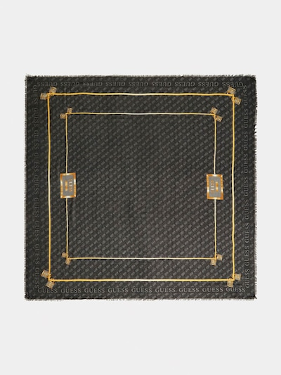 GUESS Φουλάρι 'TYREN' σε χρυσό / ανθρακί / ασημόγκριζο, Άποψη προϊόντος