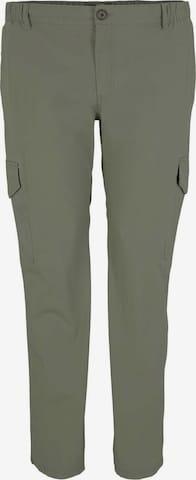 Pantalon cargo TOM TAILOR Men + en vert