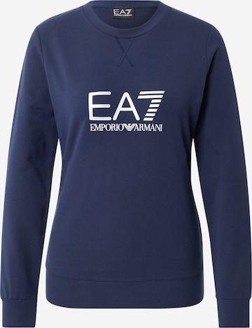 EA7 Emporio Armani Mikina - Modrá