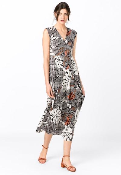 HALLHUBER Kleid in braun / weiß, Modelansicht