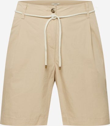 Esprit Curves Voltidega püksid, värv beež