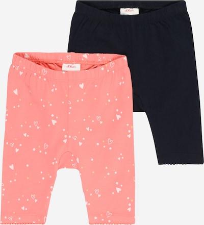 s.Oliver Leggings in de kleur Donkerblauw / Geel / Pink / Wit, Productweergave