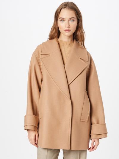 IVY & OAK Between-Seasons Coat 'PEA' in Camel, View model