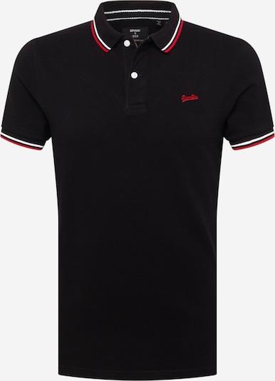 Superdry T-Shirt in feuerrot / schwarz / weiß, Produktansicht