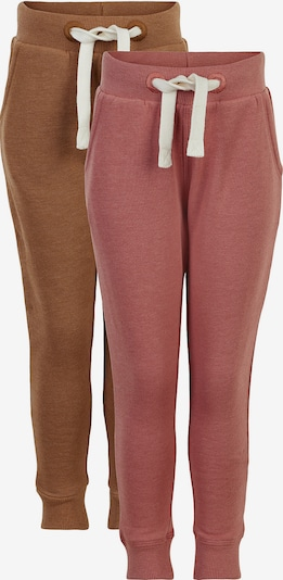 MINYMO Pants in Brown / Pink / White, Item view