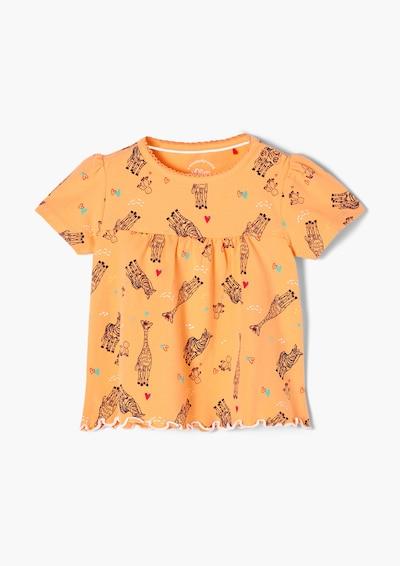 s.Oliver Shirt in de kleur Gemengde kleuren / Perzik, Productweergave
