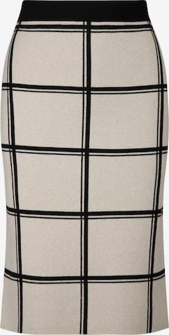 APART Strickrock aus softer Viskose Mischung mit Kaschmir in Beige