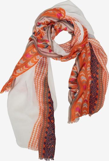 Emma & Kelly Sommerschal in orange / weiß, Produktansicht