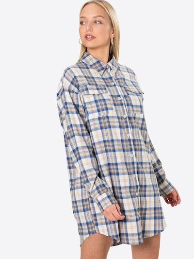 Rochie tip bluză Missguided pe bej / albastru / maro, Vizualizare model