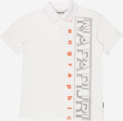NAPAPIJRI T-Shirt 'EADYR' en gris / orange / blanc, Vue avec produit