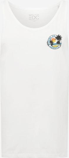 EDC BY ESPRIT T-Shirt en turquoise / jaune / vert / blanc cassé, Vue avec produit