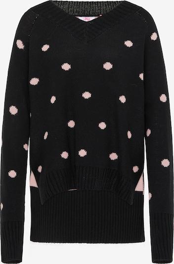 MYMO Oversized trui in de kleur Lichtroze / Zwart, Productweergave