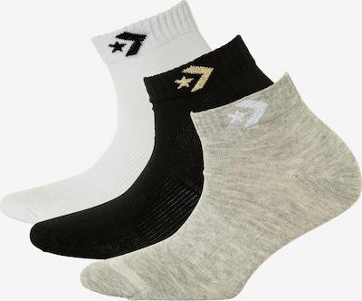 CONVERSE Sokken in de kleur Lichtgeel / Greige / Zwart / Wit, Productweergave